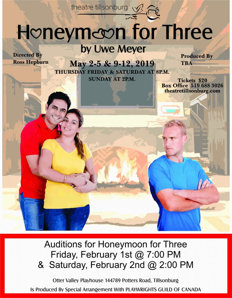 Auditions for Honeymoon for Three - Theatre Tillsonburg